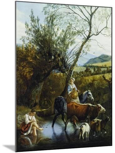 The Ford, 1672-Jan Siberechts-Mounted Giclee Print