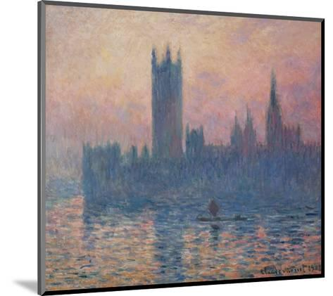 The Houses of Parliament, Sunset, 1903-Claude Monet-Mounted Giclee Print