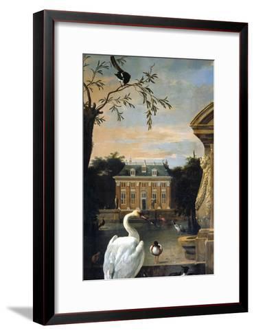 Gefluegel Im Hofe Eines Landhauses-Melchior d'Hondecoeter-Framed Art Print