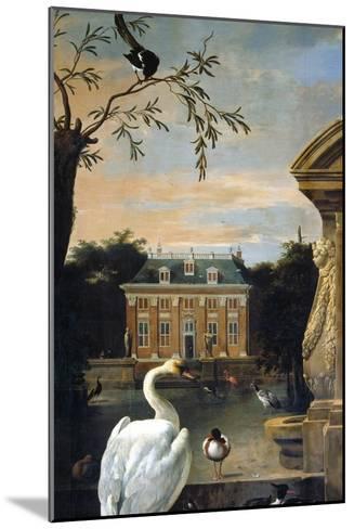 Gefluegel Im Hofe Eines Landhauses-Melchior d'Hondecoeter-Mounted Giclee Print