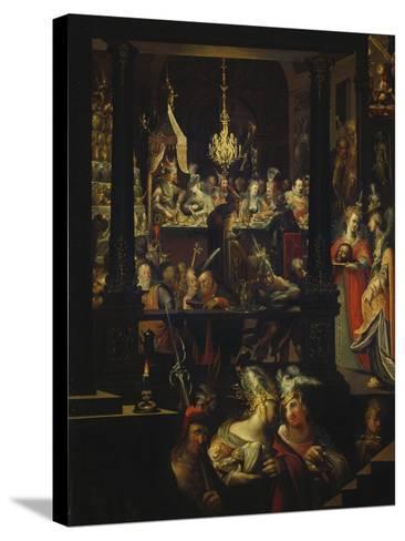 Herod's Feast-Bartholomaeus Strobel-Stretched Canvas Print