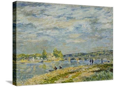 The Bridge Near Sevres, 1877-Alfred Sisley-Stretched Canvas Print