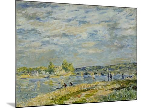 The Bridge Near Sevres, 1877-Alfred Sisley-Mounted Giclee Print