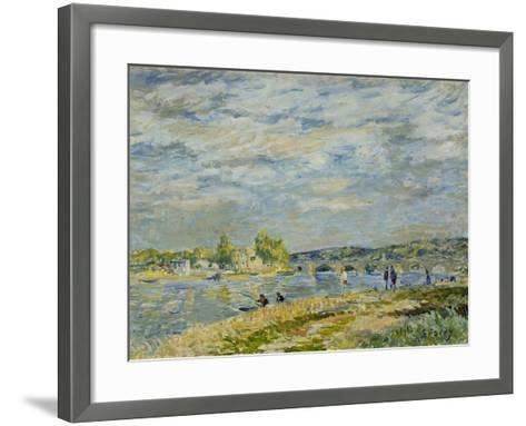 The Bridge Near Sevres, 1877-Alfred Sisley-Framed Art Print
