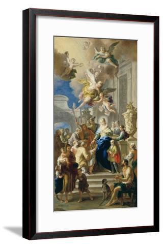 Saint Elizabeth of Hungary Giving Out Alms, 1736/37-Daniel Gran-Framed Art Print