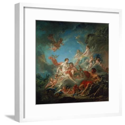 Vulkan Ueberreicht Venus Die Waffen Fuer Aeneas-Francois Boucher-Framed Art Print