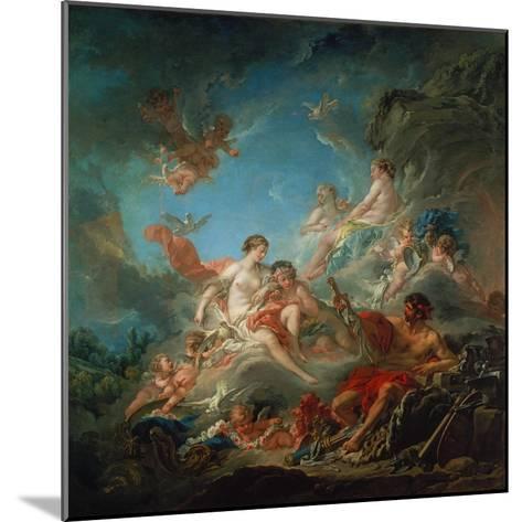 Vulkan Ueberreicht Venus Die Waffen Fuer Aeneas-Francois Boucher-Mounted Giclee Print