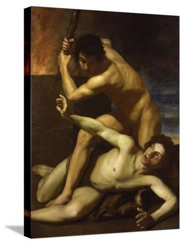 Cain Murdering Abel, about 1615-Bartolomeo Manfredi-Stretched Canvas Print