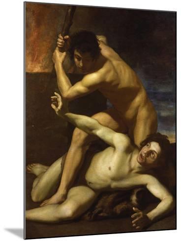 Cain Murdering Abel, about 1615-Bartolomeo Manfredi-Mounted Giclee Print