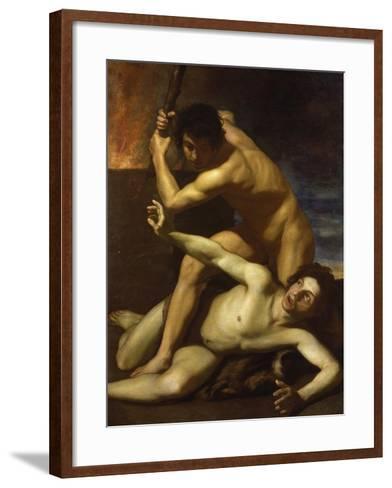 Cain Murdering Abel, about 1615-Bartolomeo Manfredi-Framed Art Print