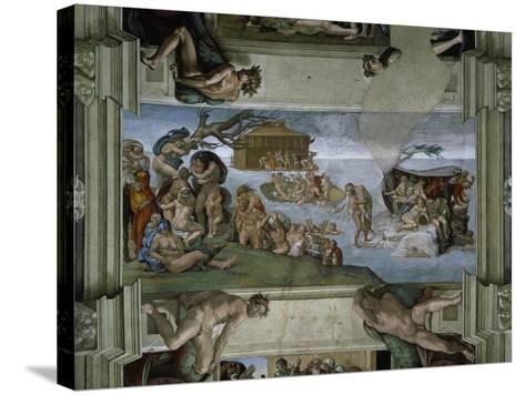 Sistine Chapel Ceiling: the Flood, 1508-12-Michelangelo Buonarroti-Stretched Canvas Print
