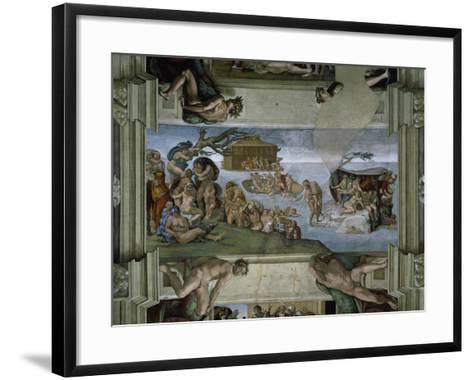 Sistine Chapel Ceiling: the Flood, 1508-12-Michelangelo Buonarroti-Framed Art Print