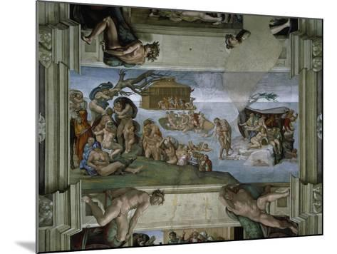 Sistine Chapel Ceiling: the Flood, 1508-12-Michelangelo Buonarroti-Mounted Giclee Print