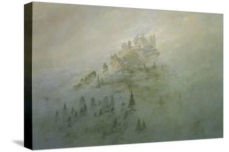 Foggy Morning in the Mountains-Caspar David Friedrich-Stretched Canvas Print