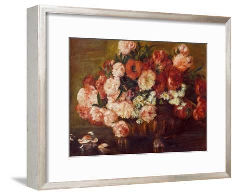 Still-Life with Peonies, 1872-Pierre-Auguste Renoir-Framed Art Print
