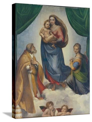 The Sistine Madonna, about 1513-Raphael-Stretched Canvas Print