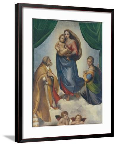 The Sistine Madonna, about 1513-Raphael-Framed Art Print