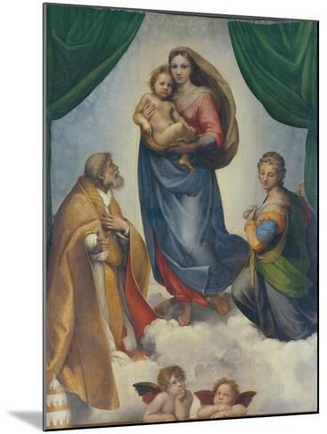 The Sistine Madonna, about 1513-Raphael-Mounted Giclee Print