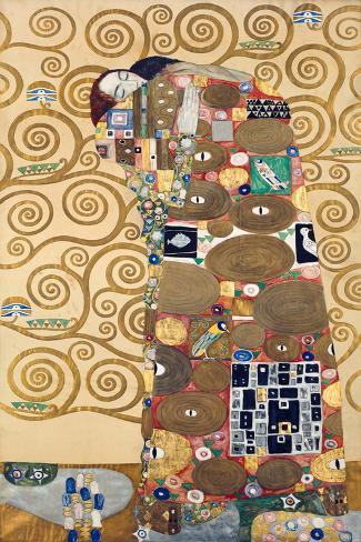 Die Erfuellung Um 1909 Werkvorlage Zum Stocletfries-Gustav Klimt-Stretched Canvas Print