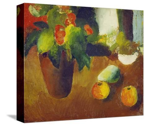 Stilleben Mit Begonie, Aepfeln Und Birne, 1914-Auguste Macke-Stretched Canvas Print