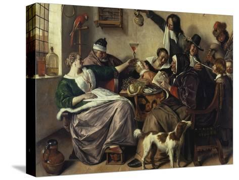 Cheerful Party (The Family of the Painter), about 1657-Jan Havicksz^ Steen-Stretched Canvas Print