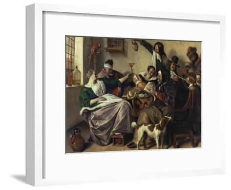 Cheerful Party (The Family of the Painter), about 1657-Jan Havicksz^ Steen-Framed Art Print