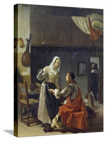 Brothel Scene, 1658-Frans Van Mieris-Stretched Canvas Print