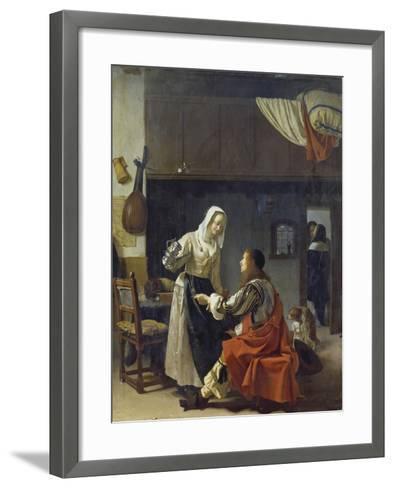 Brothel Scene, 1658-Frans Van Mieris-Framed Art Print