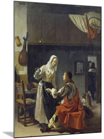 Brothel Scene, 1658-Frans Van Mieris-Mounted Giclee Print