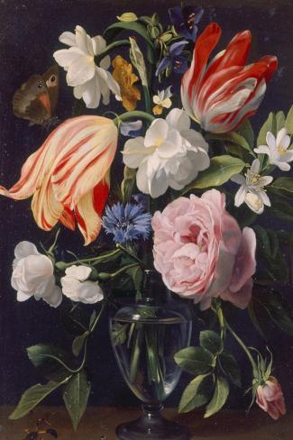 Vase with Flowers, 1637-Daniel Seghers-Stretched Canvas Print