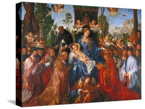 The Festival of the Rosary, 1506-Albrecht D?rer-Stretched Canvas Print