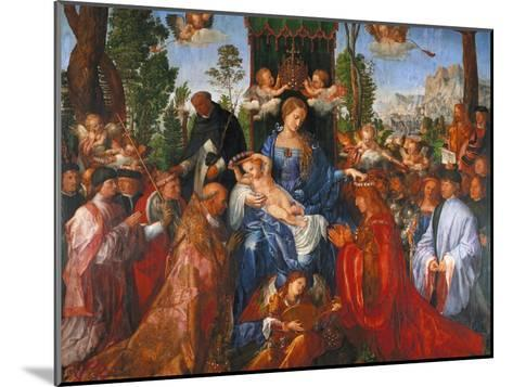 The Festival of the Rosary, 1506-Albrecht D?rer-Mounted Giclee Print