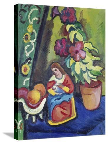Stilleben Mit Madonna, Petunie Und Aepfeln, 1911-Auguste Macke-Stretched Canvas Print