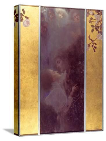 Love, 1895-Gustav Klimt-Stretched Canvas Print