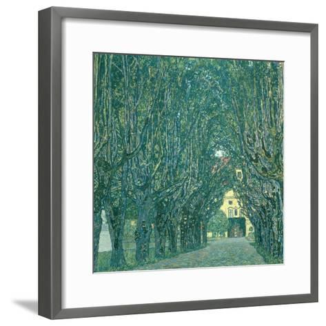 Avenue in the Park of Schloss Kammer, 1912-Gustav Klimt-Framed Art Print