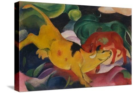 Cows Yellow-Red-Green, 1912-Franz Marc-Stretched Canvas Print