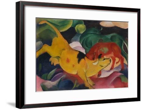 Cows Yellow-Red-Green, 1912-Franz Marc-Framed Art Print