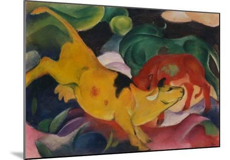Cows Yellow-Red-Green, 1912-Franz Marc-Mounted Giclee Print