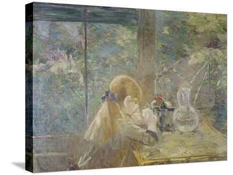 On the Veranda, 1884-Berthe Morisot-Stretched Canvas Print