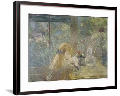 On the Veranda, 1884-Berthe Morisot-Framed Art Print
