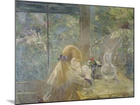 On the Veranda, 1884-Berthe Morisot-Mounted Giclee Print