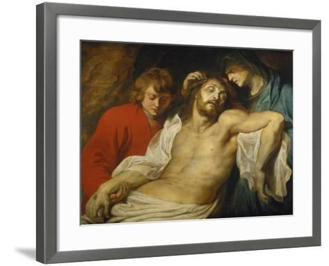 The Lamentation over the Dead Christ with the Virgin and St. John, about 1613-Peter Paul Rubens-Framed Art Print