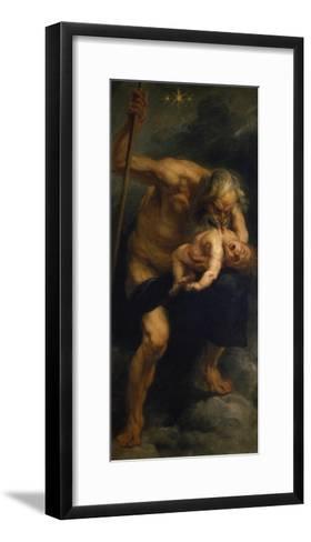 Saturn Verschlingt Eines Seiner Kinder, 1636/1638-Peter Paul Rubens-Framed Art Print