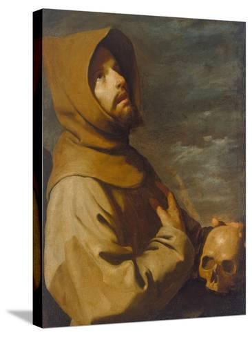 The Ecstasy of St. Francis, about 1660-Francisco de Zurbar?n-Stretched Canvas Print