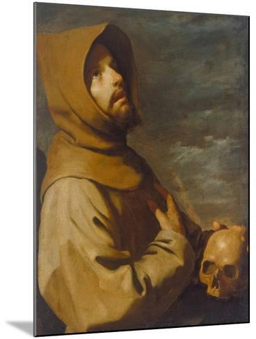 The Ecstasy of St. Francis, about 1660-Francisco de Zurbar?n-Mounted Giclee Print