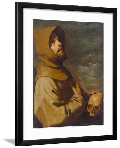 The Ecstasy of St. Francis, about 1660-Francisco de Zurbar?n-Framed Art Print