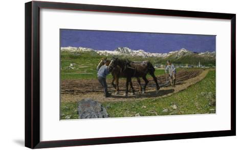 The Plough. (L'Aratura), 1887/1890-Giovanni Segantini-Framed Art Print