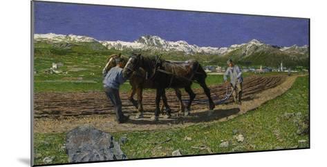 The Plough. (L'Aratura), 1887/1890-Giovanni Segantini-Mounted Giclee Print