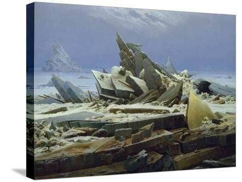 The Polar Sea (The Failed Hope), about 1823/24-Caspar David Friedrich-Stretched Canvas Print