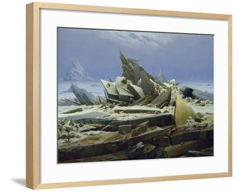 The Polar Sea (The Failed Hope), about 1823/24-Caspar David Friedrich-Framed Art Print